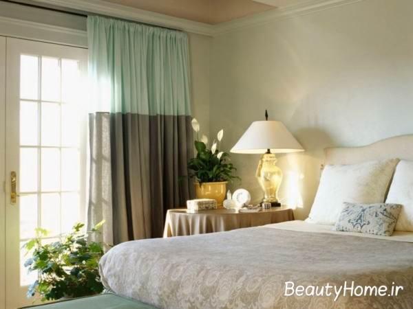 پرده اتاق خواب دو رنگ