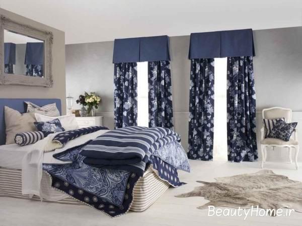 پرده اتاق خواب آبی