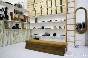 دکوراسیون مغازه کیف و کفش