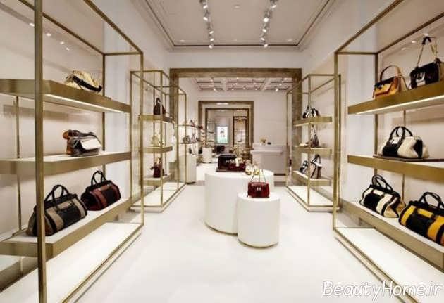دکور جدید و زیبای مغازه کیف و کفش