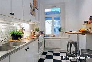 آشپزخانه روشن و کوچک