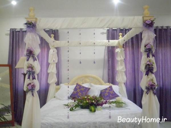 اتاق خواب سفید و سوسنی