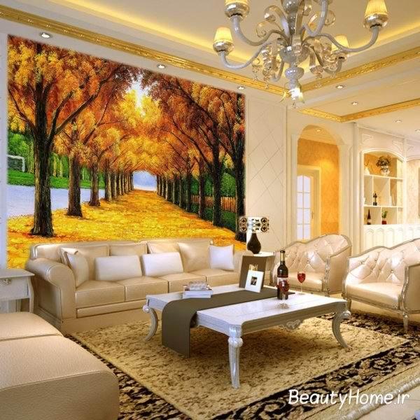کاغذ دیواری با طرح منظره