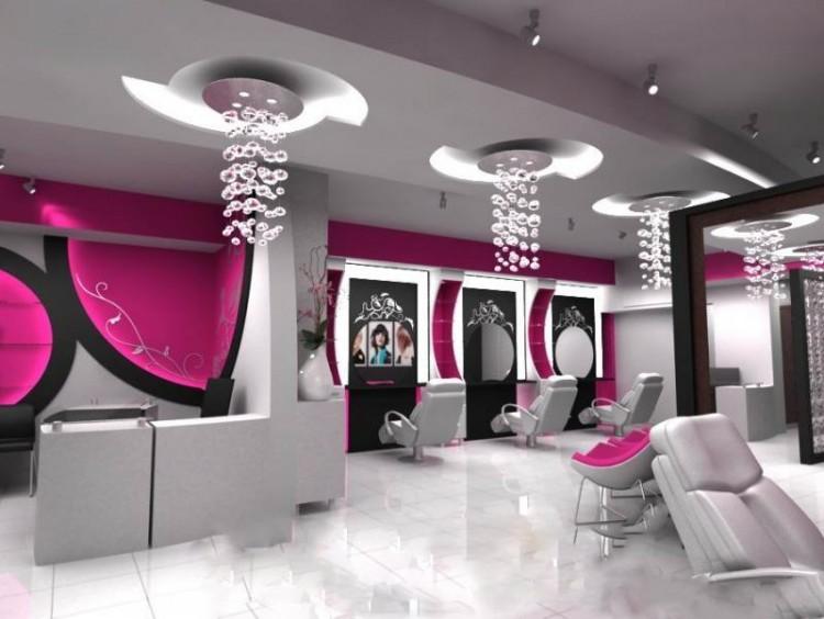 تزیین آرایشگاه با لوسترهای شیک