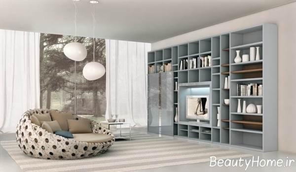 جدیدترین مدل های کتابخانه چوبی