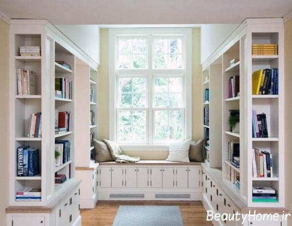 طراحی کتابخانه برای اتاق خواب