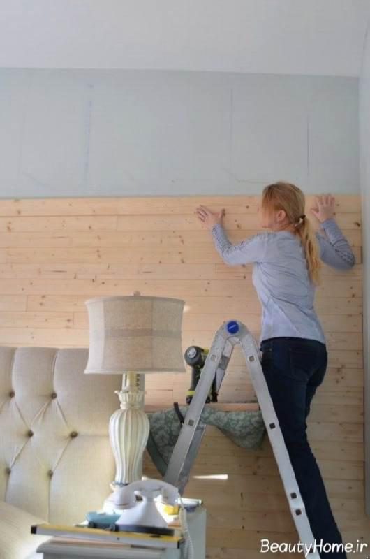 تزیین دیوار خانه با وسایل دور ریختنی