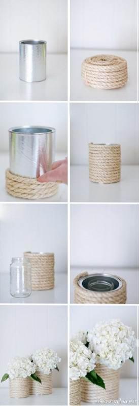 ساخت گلدان با بطری فلزی