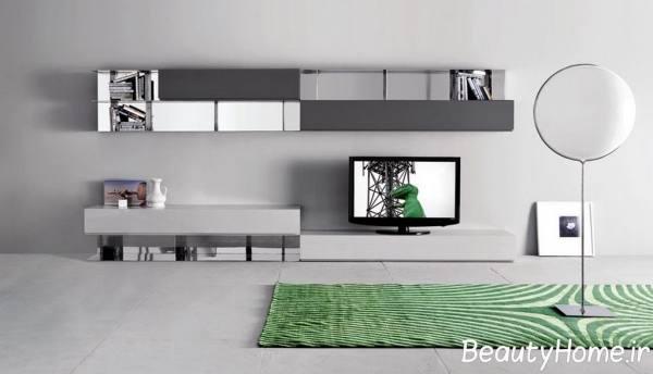 میز تلویزیون های شیک سفید