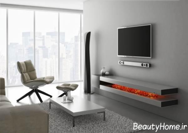 مدل میز تلویزیون دیواری جدید و شیک تصاویر