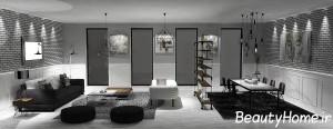 اتاق پذیرایی سیاه و سفید