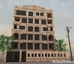 نمای خارجی آپارتمان های مدرن