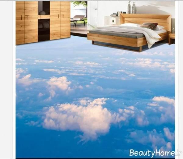 زیبایی اتاق خواب با کف پوش سه بعدی