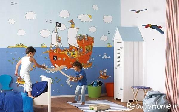 تزیین اتاق کودک با کاغذ دیواری
