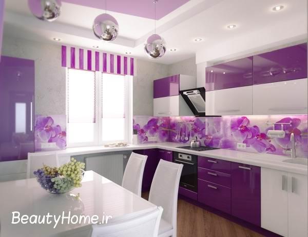 دکوراسیون آشپزخانه با رنگ روشن