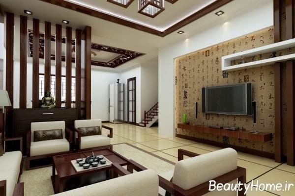 شیک ترین اتاق پذیرایی چوبی