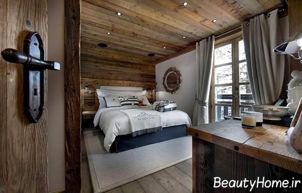 طراحی اتاق پذیرایی با چوب