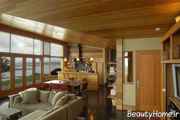 جدیدترین دکوراسیون آشپزخانه های چوبی