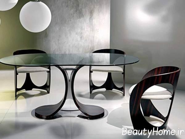 میز ناهار خوری فلزی جدید