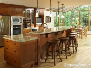 نمونه آشپزخانه های جزیره ای