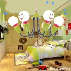 شیک ترین لوسترهای اتاق خواب کودک