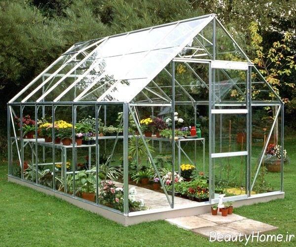 انواع گلخانه زیبا با قاب فلزی