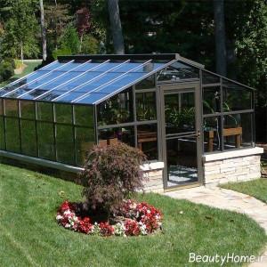 انواع پوشش اکریلیک در نمونه گلخانه های خانگی