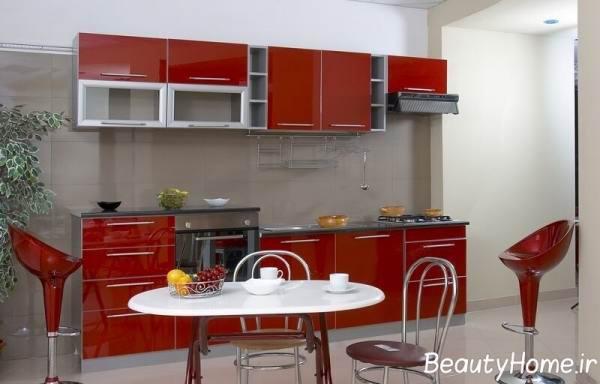 کابینت های زیبا و شیک فلزی برای آشپزخانه های مدرن