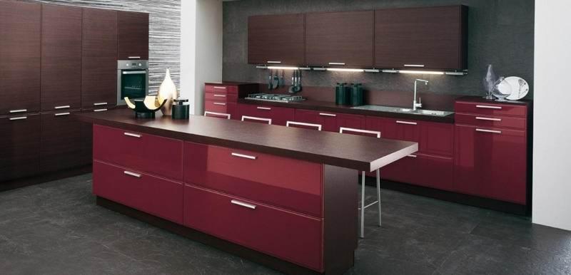 طراحی آشپزخانه با کابینت های فلزی