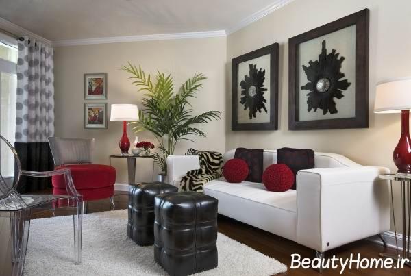 تزیین اتاق پذیرایی با وسایل کوچک