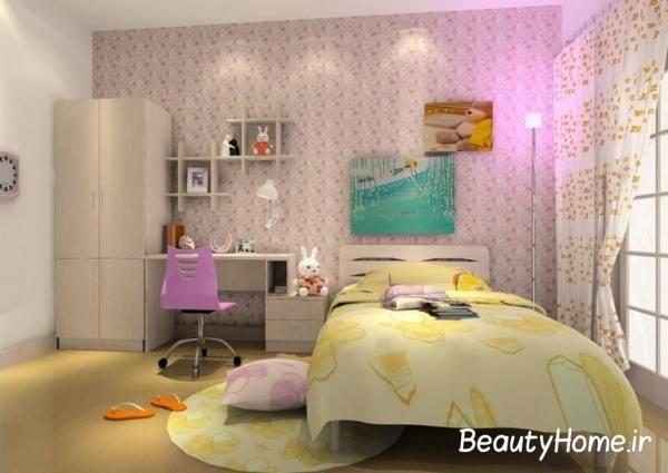 دختران و طراحی اتاق خواب زیبا برای آن ها