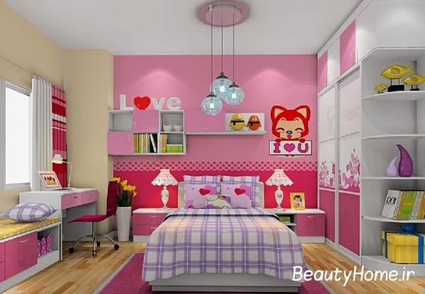 مدل های دیزاین و دکوراسیون اتاق خواب دختران