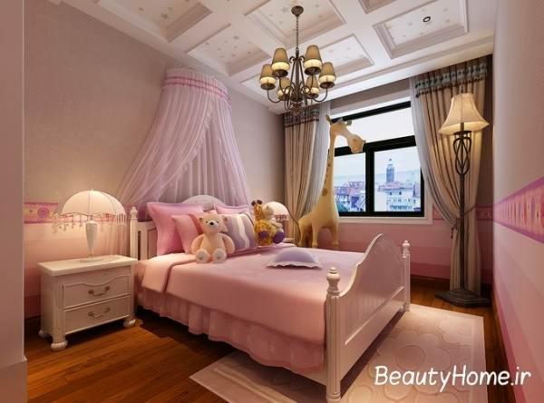 طراحی سه بعدی اتاق خواب دخترانه