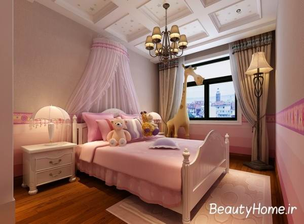 طراحی اتاق خواب دخترانه با نرم افزار سه بعدی