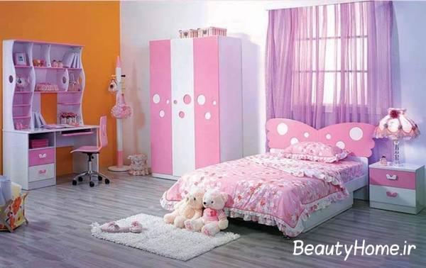 طراحی شیک اتاق خواب دخترانه