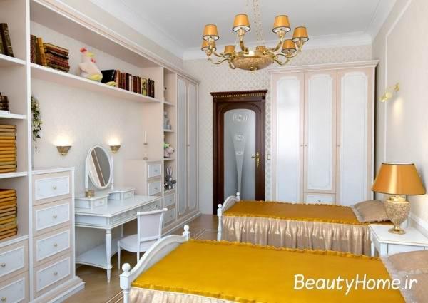 دیزاین زیبا از اتاق خواب کوچک دخترانه