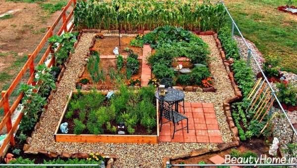 تزیین کردن باغچه حیاط