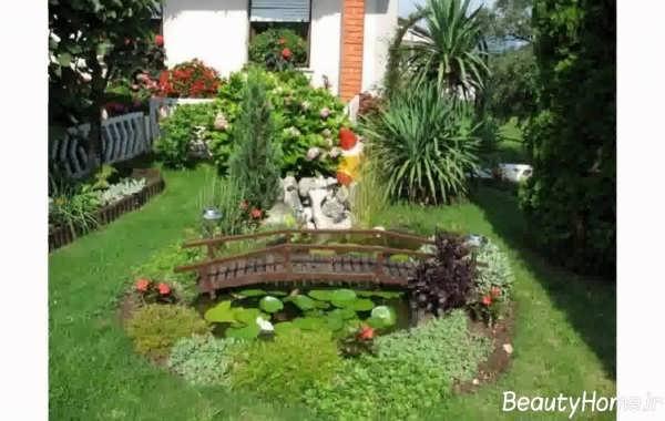 تزیینات باغچه حیاط منزل و ویلا
