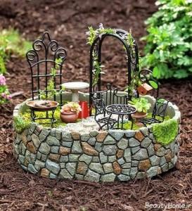 تزیین باغچه با سنگ