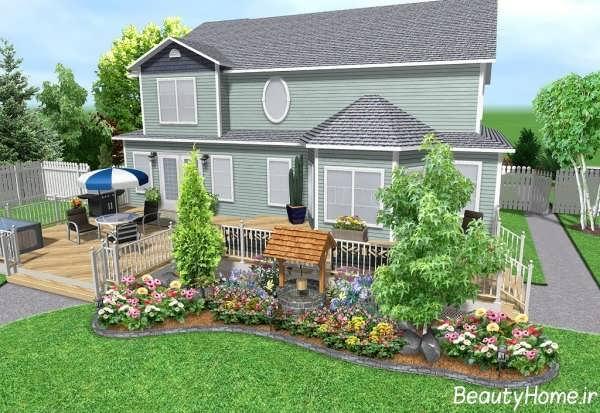 تزیین کردن باغچه با گل