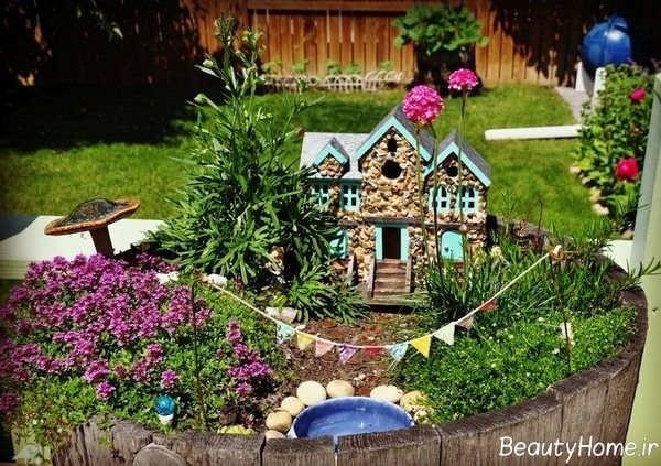 طرح های تزیین زیبا باغچه