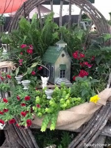 مدل تزیین باغچه با گل و گیاهان متنوع
