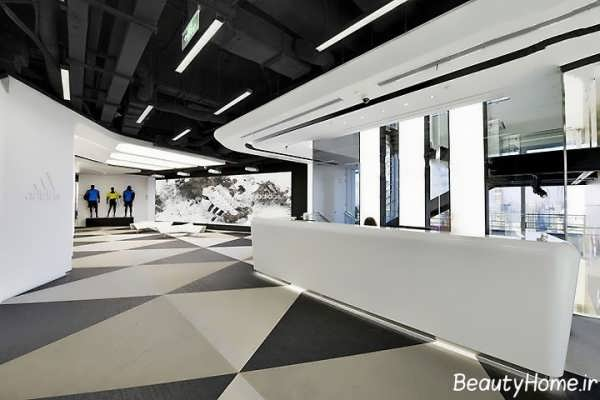 مدل دکوراسیون مغازه با رنگ خاکستری و مشکی