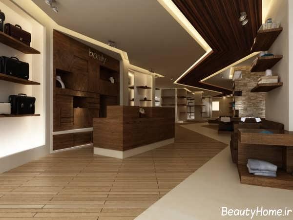 دکوراسیون داخلی برای مغازه ها با ترکیب رنگ روشن و تیره