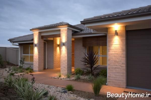 تزیین نمای خارجی ساختمان های مدرن با نورپردازی های زیبا