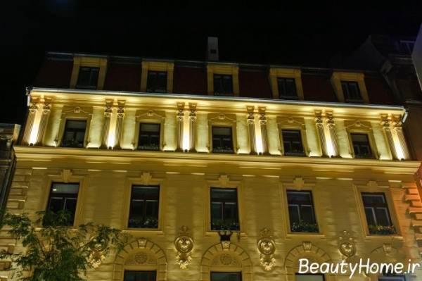 چگونگی نورپردازی نمای خارجی ساختمان های مدرن