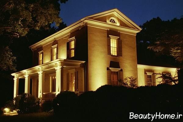 طراحی نمای خارجی ساختمان ها با نورپردازی متفاوت