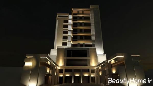 جدیدترین طرح ها و ایده های نورپردازی نمای خارجی ساختمان های لوکس