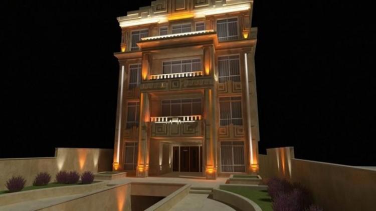 زیباتر نشان دادن مصالح نمای خارجی ساختمان ها با نورپردازی