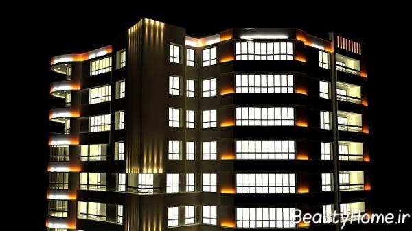 زیباتر کردن نمیا خارجی آپارتمان ها با نورپردازی